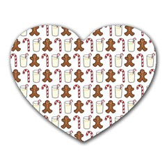Christmas Trio Pattern Heart Mousepads