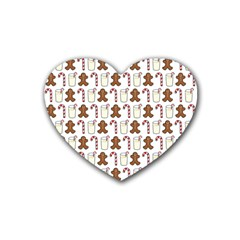 Christmas Trio Pattern Rubber Coaster (Heart)