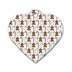 Christmas Trio Pattern Dog Tag Heart (one Side)