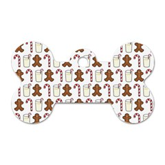 Christmas Trio Pattern Dog Tag Bone (One Side)