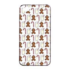 Christmas Trio Pattern Apple Iphone 4/4s Seamless Case (black)