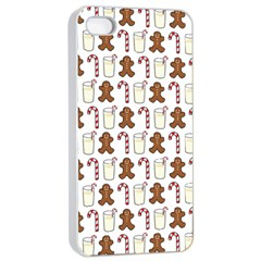 Christmas Trio Pattern Apple iPhone 4/4s Seamless Case (White)