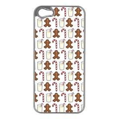 Christmas Trio Pattern Apple iPhone 5 Case (Silver)
