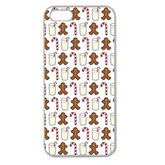 Christmas Trio Pattern Apple Seamless Iphone 5 Case (clear)