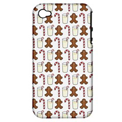 Christmas Trio Pattern Apple Iphone 4/4s Hardshell Case (pc+silicone)