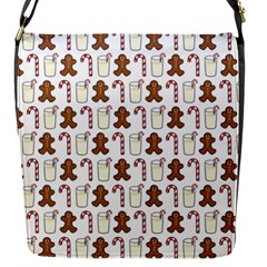 Christmas Trio Pattern Flap Messenger Bag (S)