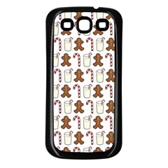 Christmas Trio Pattern Samsung Galaxy S3 Back Case (black)