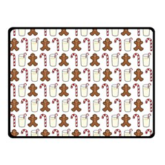Christmas Trio Pattern Double Sided Fleece Blanket (small)