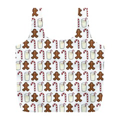 Christmas Trio Pattern Full Print Recycle Bags (l)
