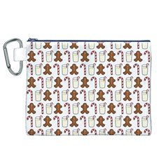 Christmas Trio Pattern Canvas Cosmetic Bag (xl)