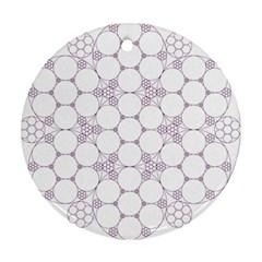 Density Multi Dimensional Gravity Analogy Fractal Circles Ornament (Round)