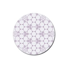 Density Multi Dimensional Gravity Analogy Fractal Circles Rubber Round Coaster (4 pack)