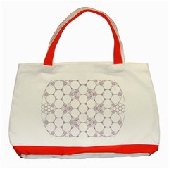 Density Multi Dimensional Gravity Analogy Fractal Circles Classic Tote Bag (Red)