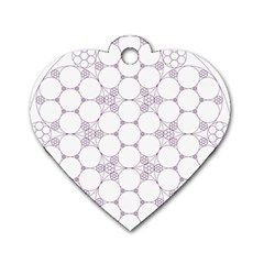 Density Multi Dimensional Gravity Analogy Fractal Circles Dog Tag Heart (One Side)