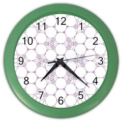 Density Multi Dimensional Gravity Analogy Fractal Circles Color Wall Clocks