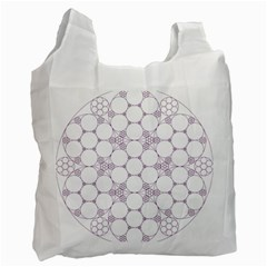 Density Multi Dimensional Gravity Analogy Fractal Circles Recycle Bag (one Side)