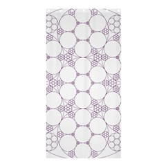 Density Multi Dimensional Gravity Analogy Fractal Circles Shower Curtain 36  X 72  (stall)