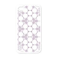 Density Multi Dimensional Gravity Analogy Fractal Circles Apple iPhone 4 Case (White)