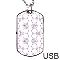 Density Multi Dimensional Gravity Analogy Fractal Circles Dog Tag USB Flash (One Side)