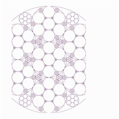 Density Multi Dimensional Gravity Analogy Fractal Circles Small Garden Flag (two Sides)