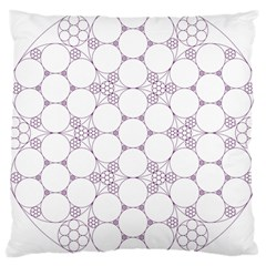 Density Multi Dimensional Gravity Analogy Fractal Circles Large Cushion Case (One Side)