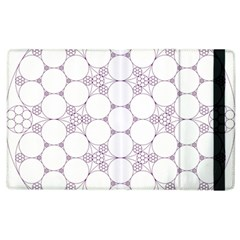 Density Multi Dimensional Gravity Analogy Fractal Circles Apple Ipad 2 Flip Case