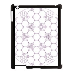 Density Multi Dimensional Gravity Analogy Fractal Circles Apple Ipad 3/4 Case (black)