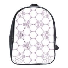 Density Multi Dimensional Gravity Analogy Fractal Circles School Bags (XL)