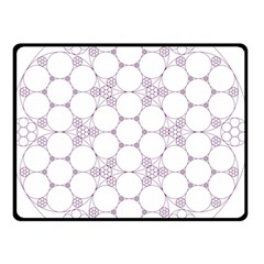Density Multi Dimensional Gravity Analogy Fractal Circles Double Sided Fleece Blanket (small)