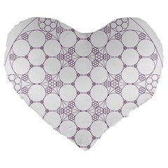 Density Multi Dimensional Gravity Analogy Fractal Circles Large 19  Premium Flano Heart Shape Cushions