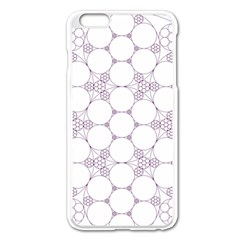 Density Multi Dimensional Gravity Analogy Fractal Circles Apple Iphone 6 Plus/6s Plus Enamel White Case
