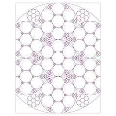 Density Multi Dimensional Gravity Analogy Fractal Circles Drawstring Bag (Large)