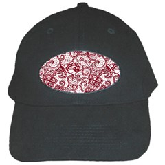 Transparent Lace With Flowers Decoration Black Cap