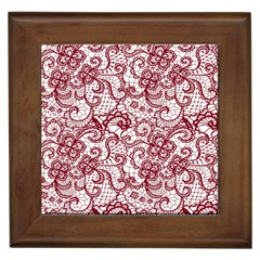 Transparent Lace With Flowers Decoration Framed Tiles