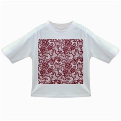 Transparent Lace With Flowers Decoration Infant/toddler T Shirts