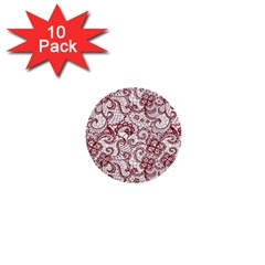 Transparent Lace With Flowers Decoration 1  Mini Buttons (10 Pack)