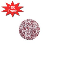 Transparent Lace With Flowers Decoration 1  Mini Magnets (100 Pack)