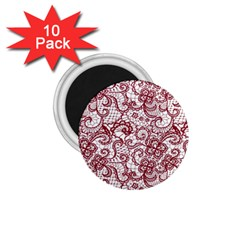Transparent Lace With Flowers Decoration 1.75  Magnets (10 pack)