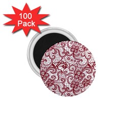 Transparent Lace With Flowers Decoration 1.75  Magnets (100 pack)