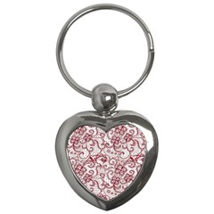 Transparent Lace With Flowers Decoration Key Chains (heart)