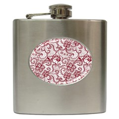 Transparent Lace With Flowers Decoration Hip Flask (6 oz)