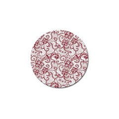 Transparent Lace With Flowers Decoration Golf Ball Marker (10 Pack)