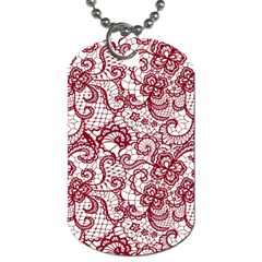 Transparent Lace With Flowers Decoration Dog Tag (Two Sides)