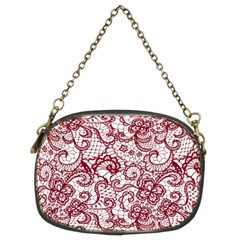 Transparent Lace With Flowers Decoration Chain Purses (Two Sides)