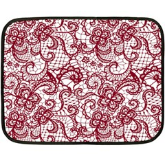 Transparent Lace With Flowers Decoration Double Sided Fleece Blanket (mini)