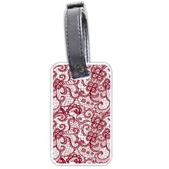 Transparent Lace With Flowers Decoration Luggage Tags (Two Sides)