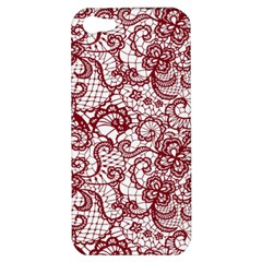 Transparent Lace With Flowers Decoration Apple Iphone 5 Hardshell Case