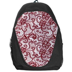 Transparent Lace With Flowers Decoration Backpack Bag