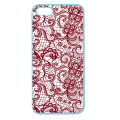 Transparent Lace With Flowers Decoration Apple Seamless iPhone 5 Case (Color)