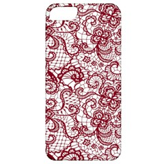 Transparent Lace With Flowers Decoration Apple Iphone 5 Classic Hardshell Case